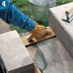 Smooth the concrete