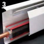 Space-saving hot water